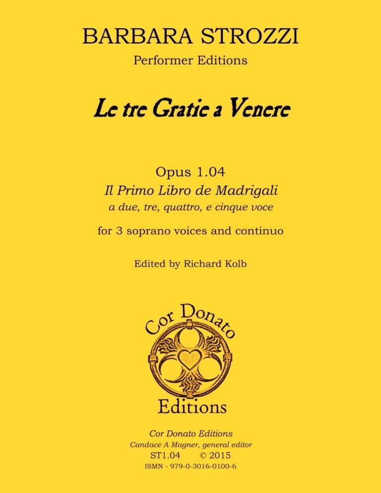 Cover of Le Tre Gratie a Venere