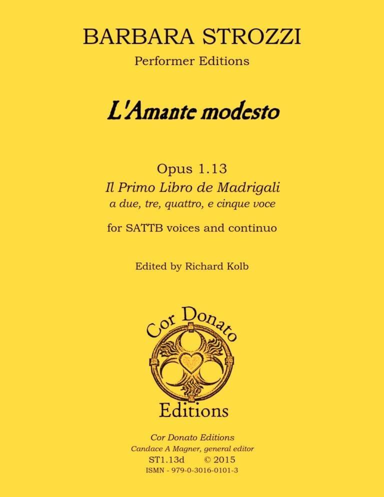 Cover of L'Amante Modesto