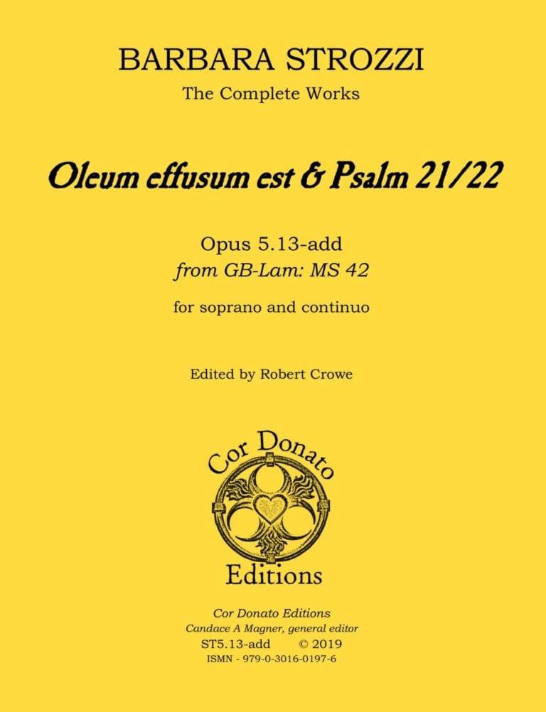 Cover of Oleum effusum est and Psalm 21/22