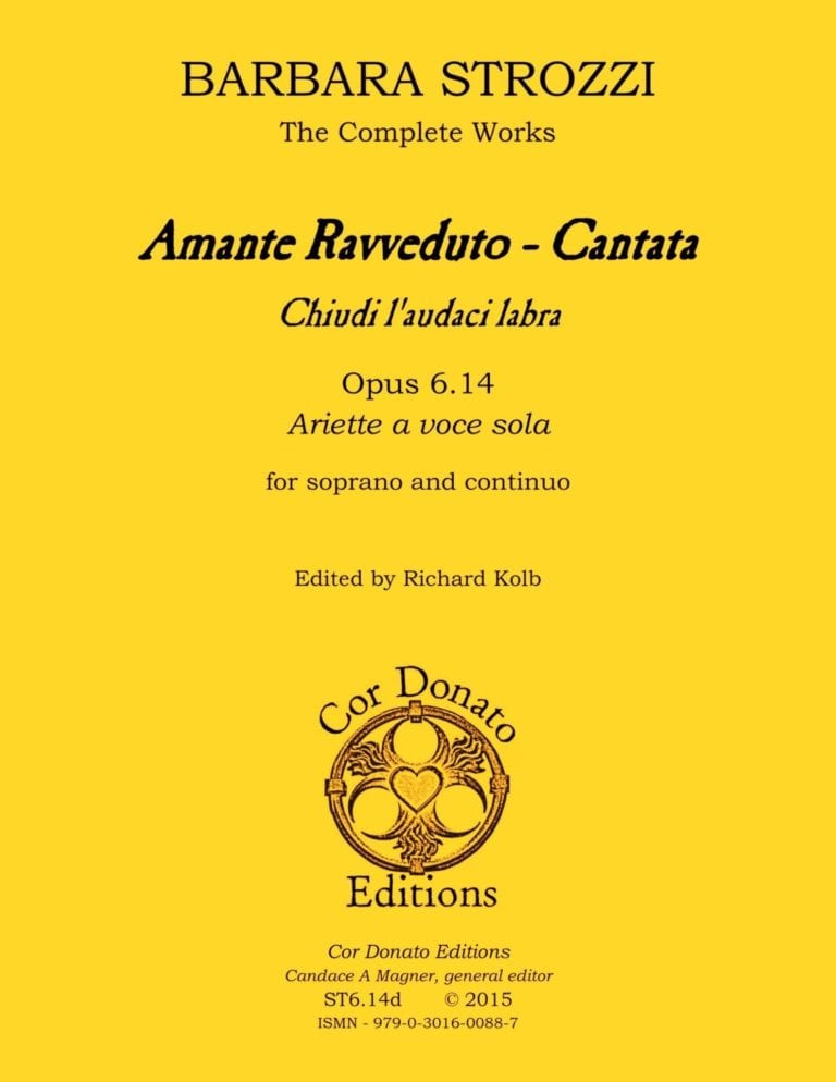 Cover of Amante Ravveduto - Cantata