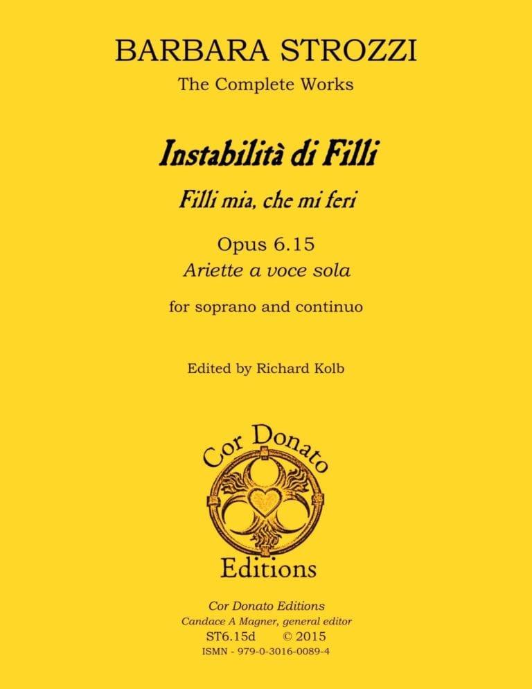Cover of Instabilità di Filli