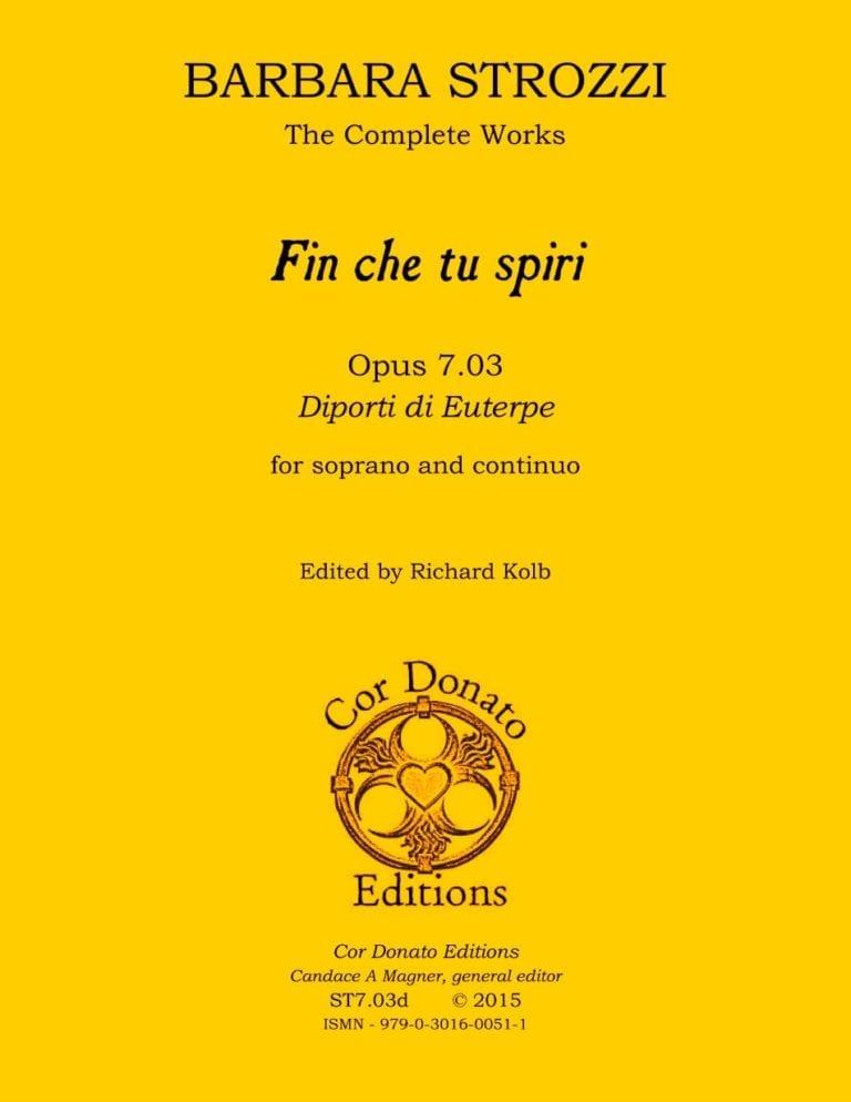 Cover of Fin che tu spiri