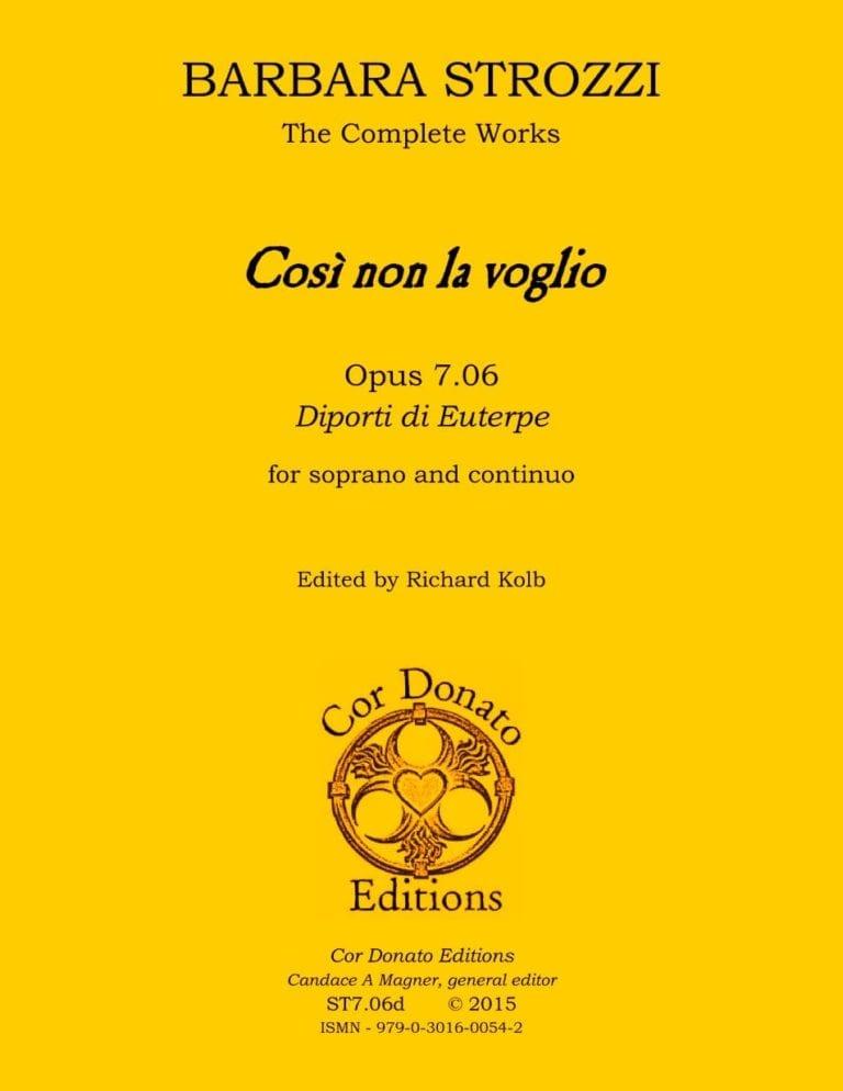 Cover of Così non la voglio