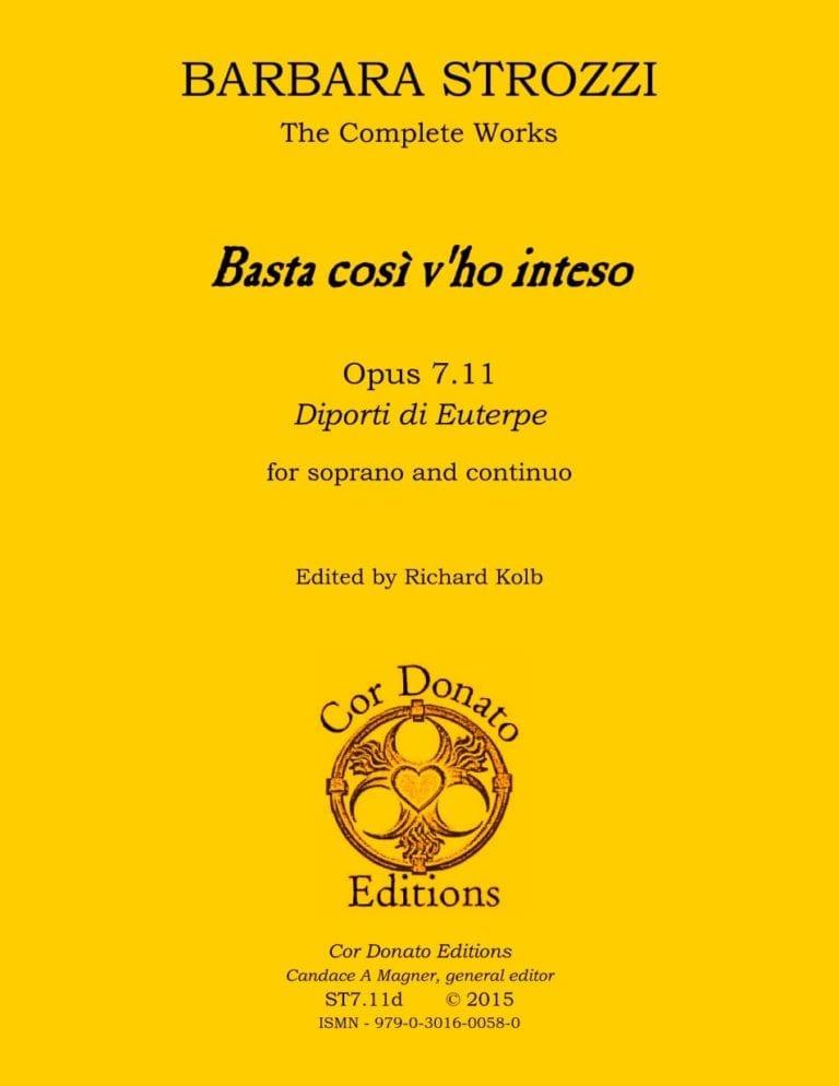 Cover of Basta così v'ho inteso