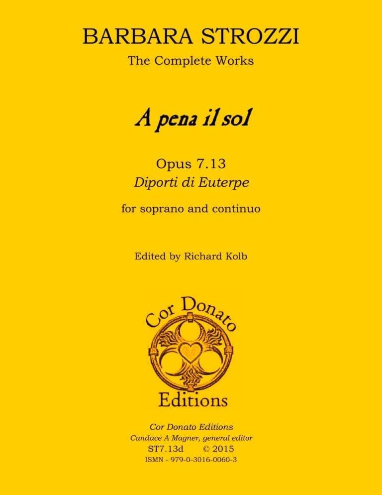 Cover of A pena il sol