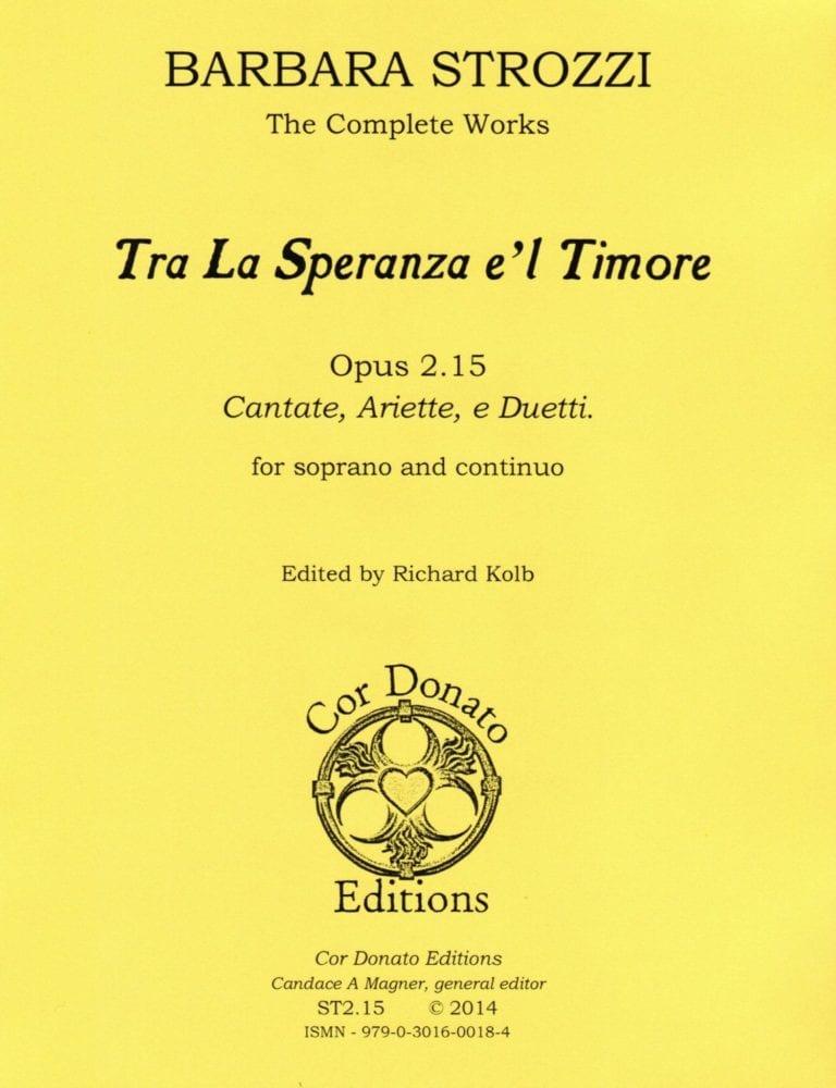 Cover of Tra La Speranza e'l Timore