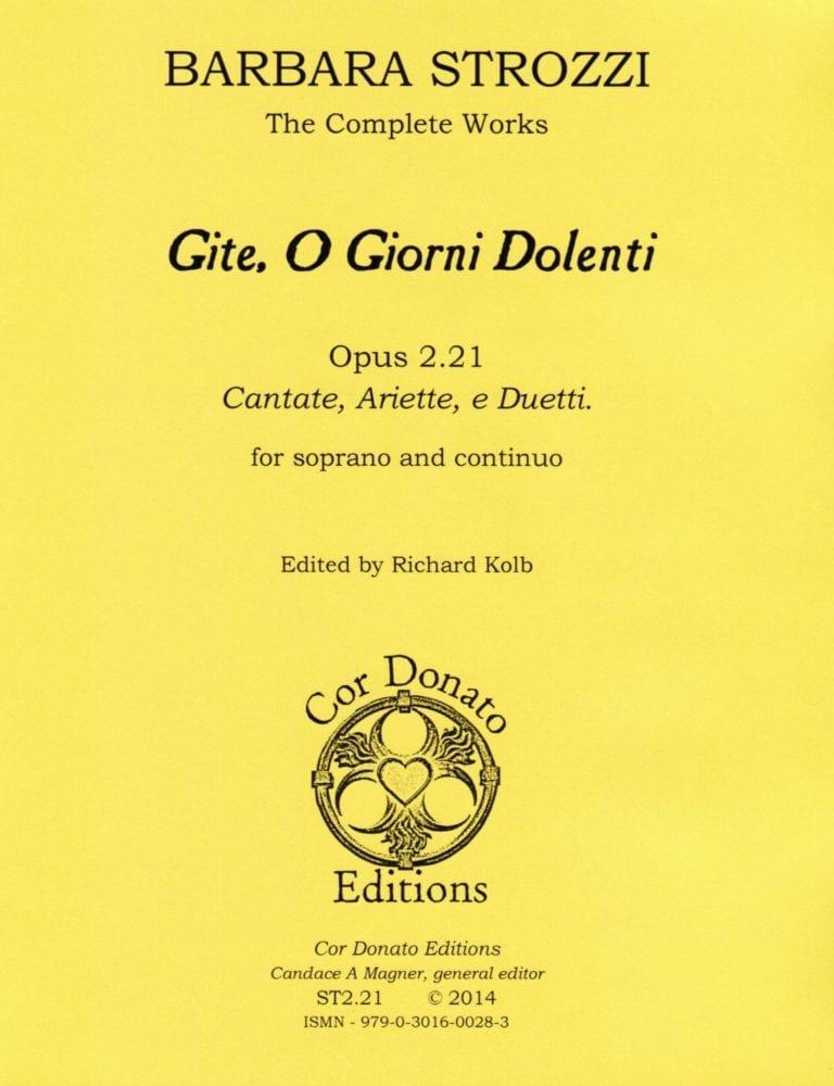 Cover of Gite, O Giorni Dolenti