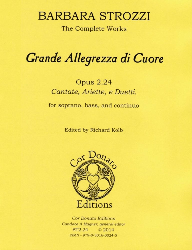 Cover of Grand' Allegrezza di Cuore