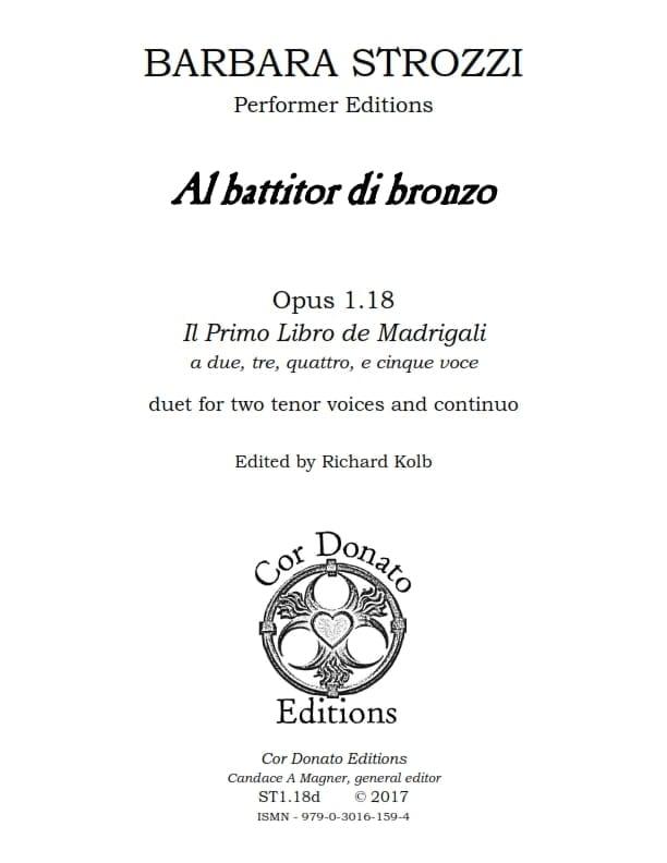 Cover of Al Battitor di Bronzo della Sua Crudelissima Dama