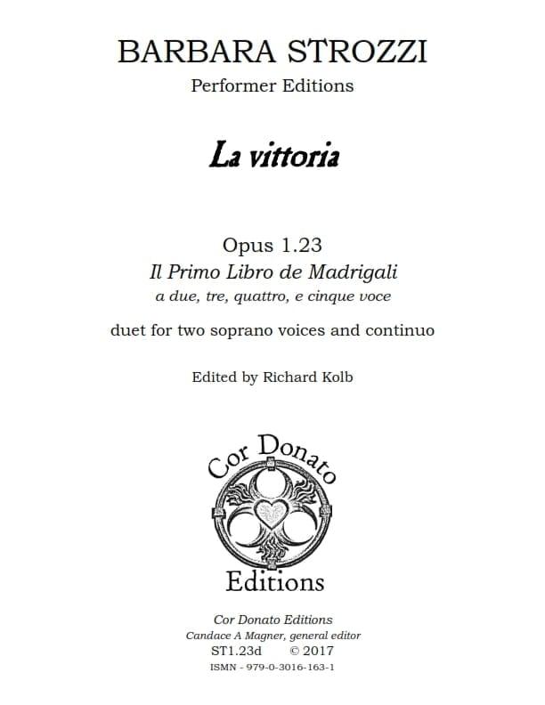 Cover of La Vittoria