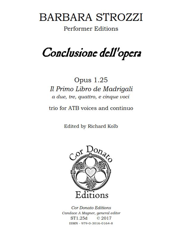 Cover of Conclusione dell'Opera