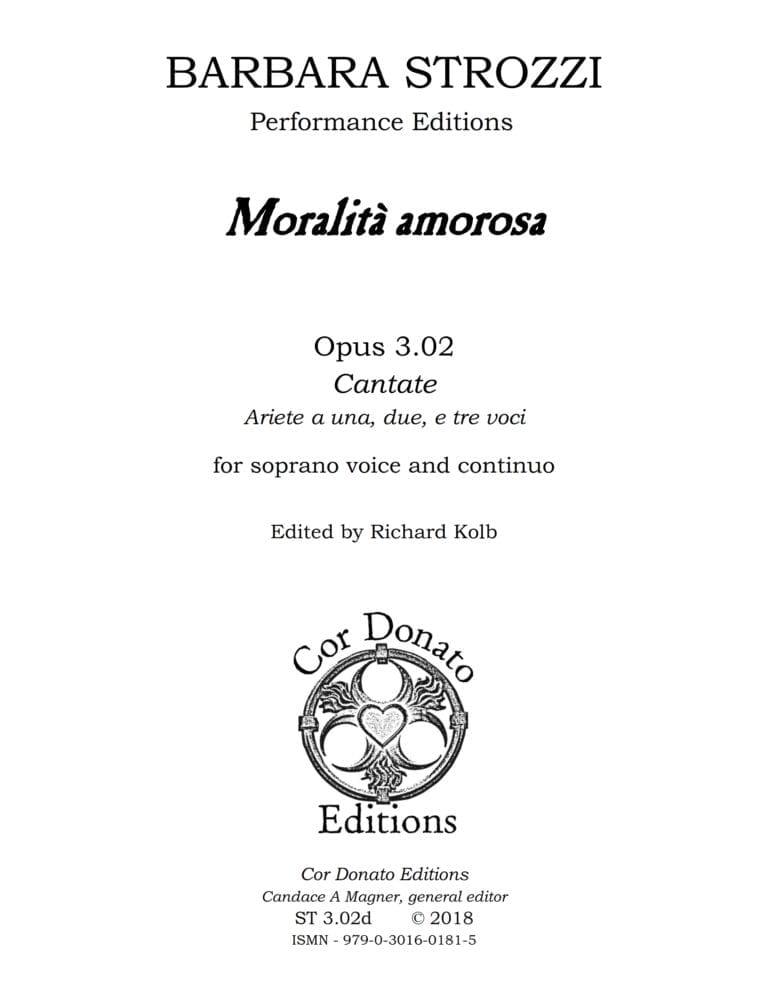 Cover of Moralità Amorosa