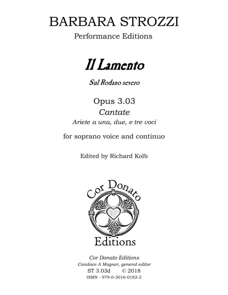 Cover of Il Lamento, Sul Rodano Severo