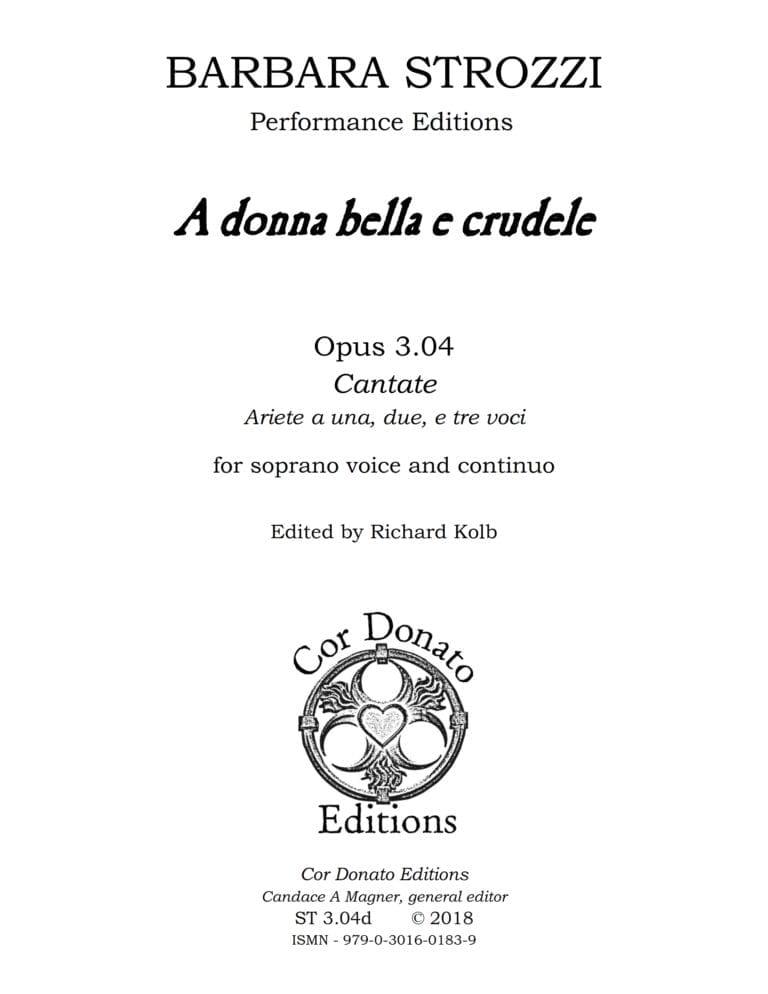 Cover of A Donna Bella e Crudele