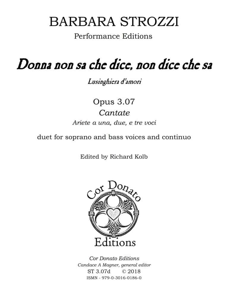 Cover of Donna non sa che dice, non dice che sa