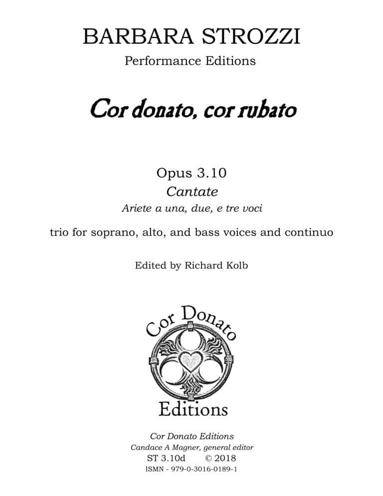 Cover of Cor Donato, Cor Rubato (Contrasto tra Filindo, Dori, e Tirsi)