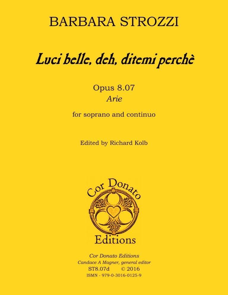 Cover of Luci belle, deh, ditemi perchè?