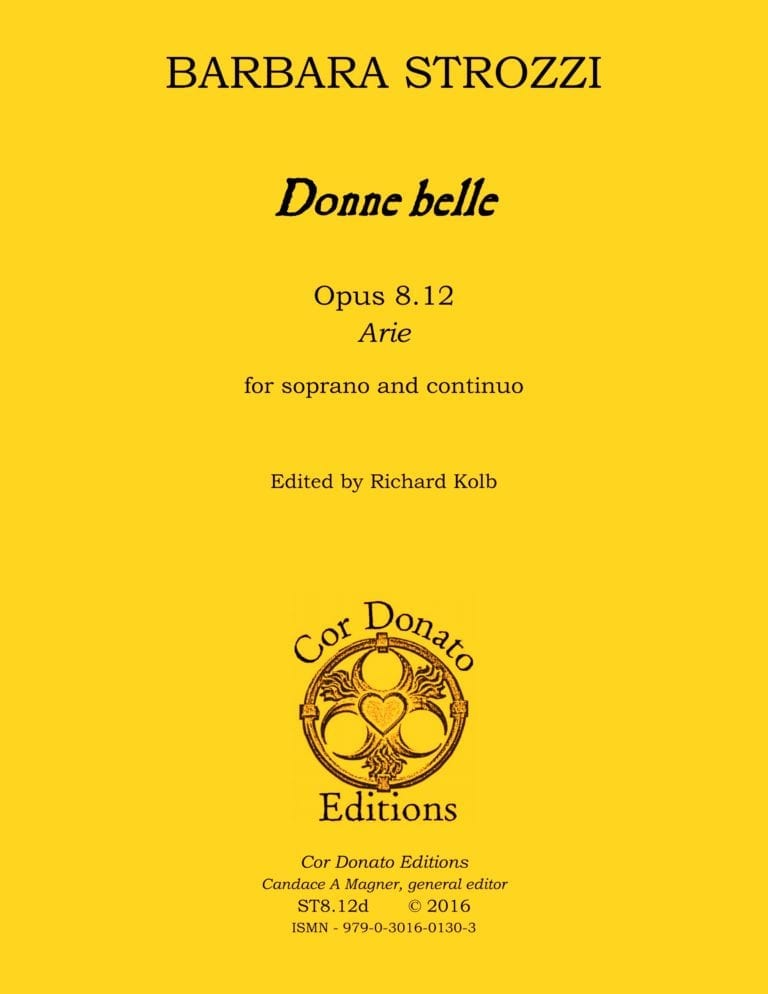 Cover of Donne belle