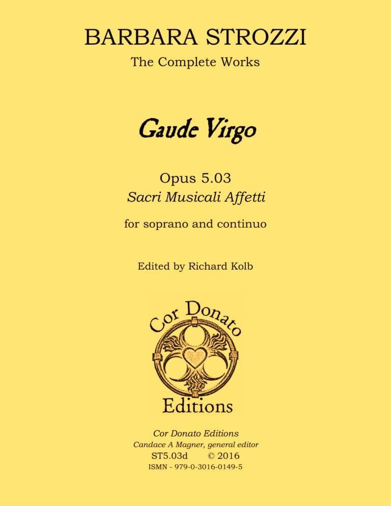 Cover of Gaude Virgo