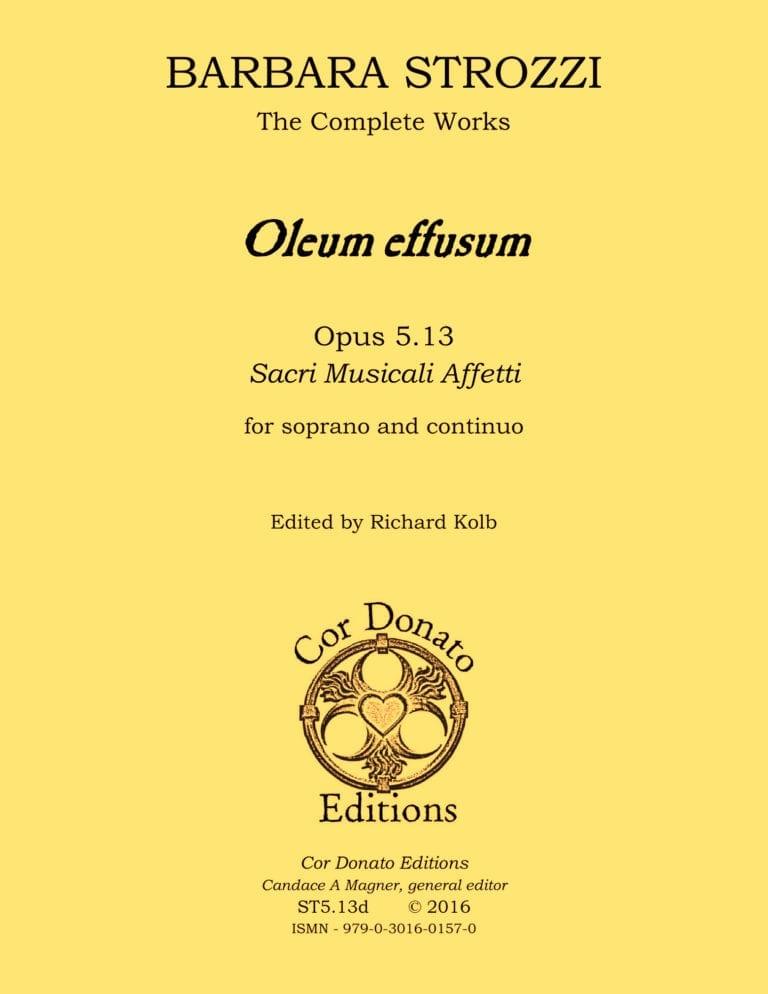 Cover of Oleum Effusum